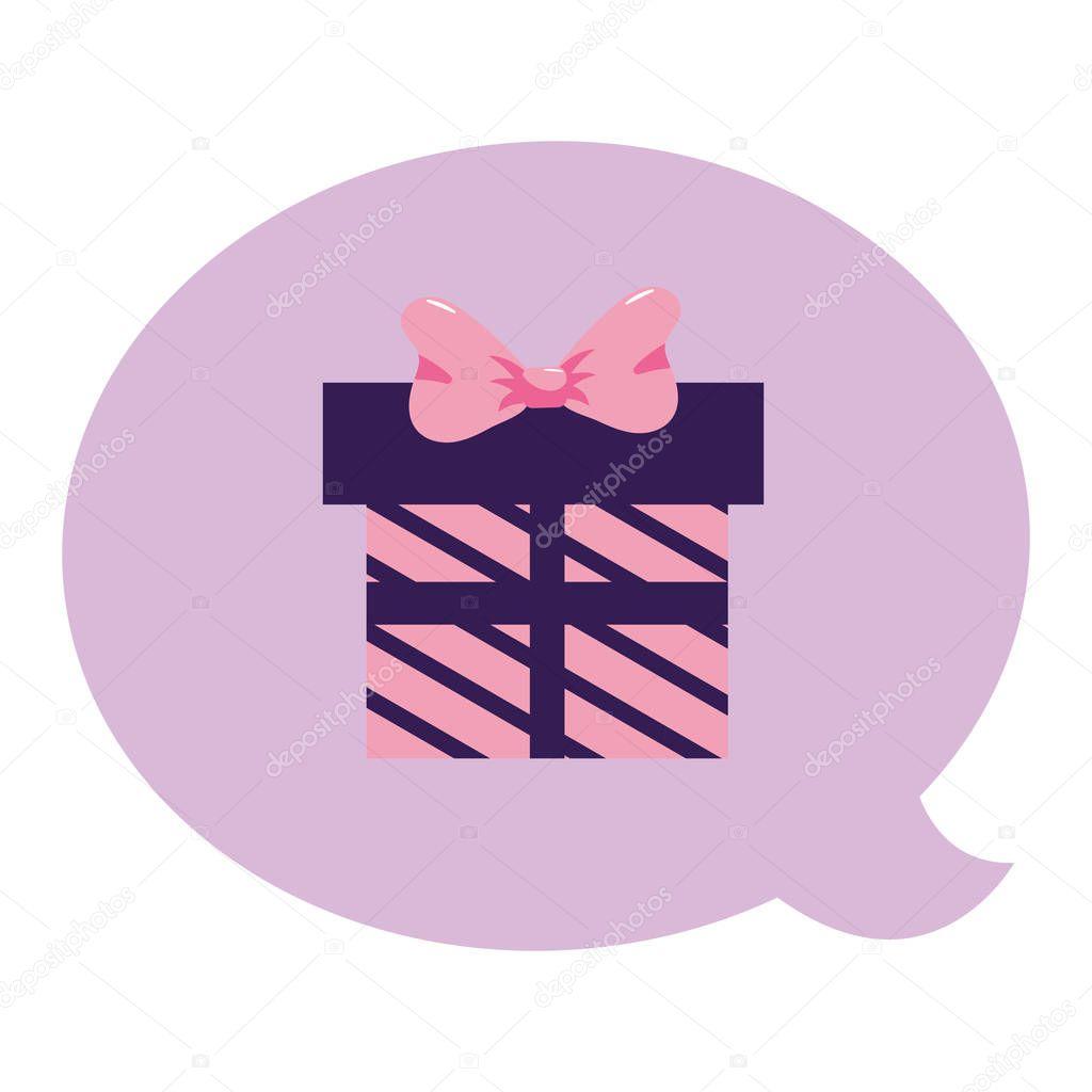 Giftbox present bubble