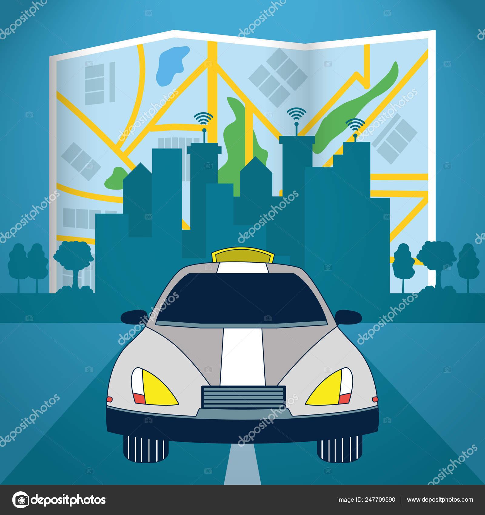 Autonomous Car technology — Stock Vector © stockgiu #247709590