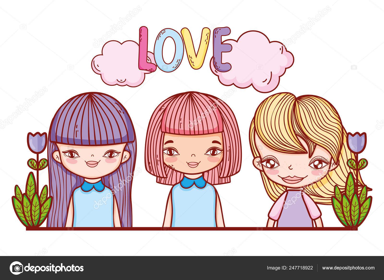 Drawings Cute Girls Little Girls Love Cute Drawings