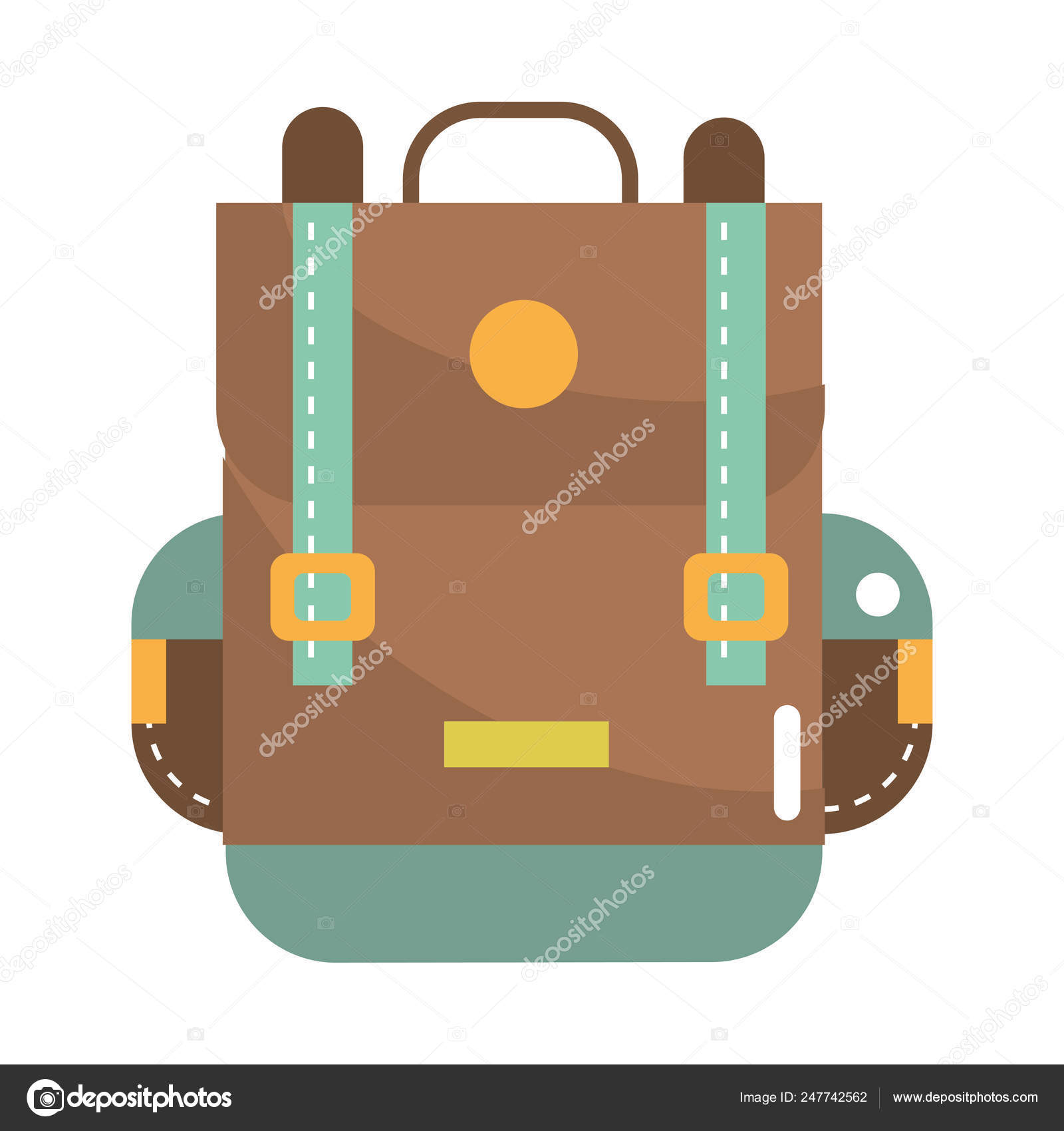 Travel Backpack Cartoon Stock Vector C Stockgiu 247742562