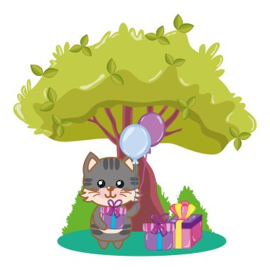 Birthday animal cartoon