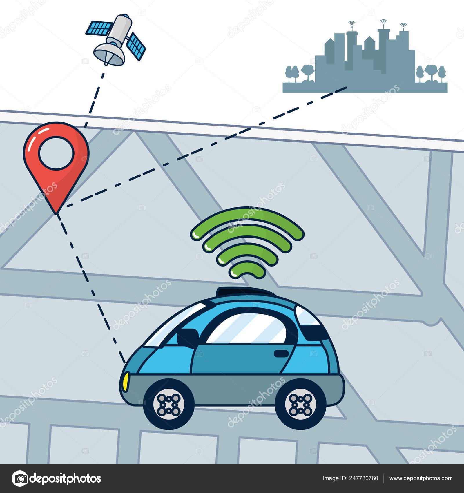 Autonomous Car technology — Stock Vector © stockgiu #247780760