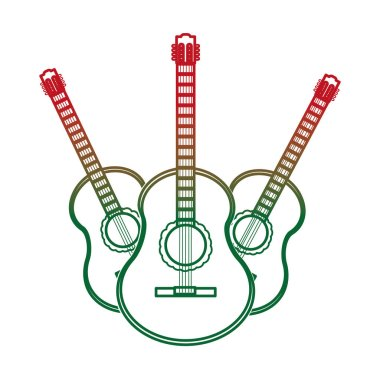 Guitar of instrument music and sound theme Isolated design Vector illustration