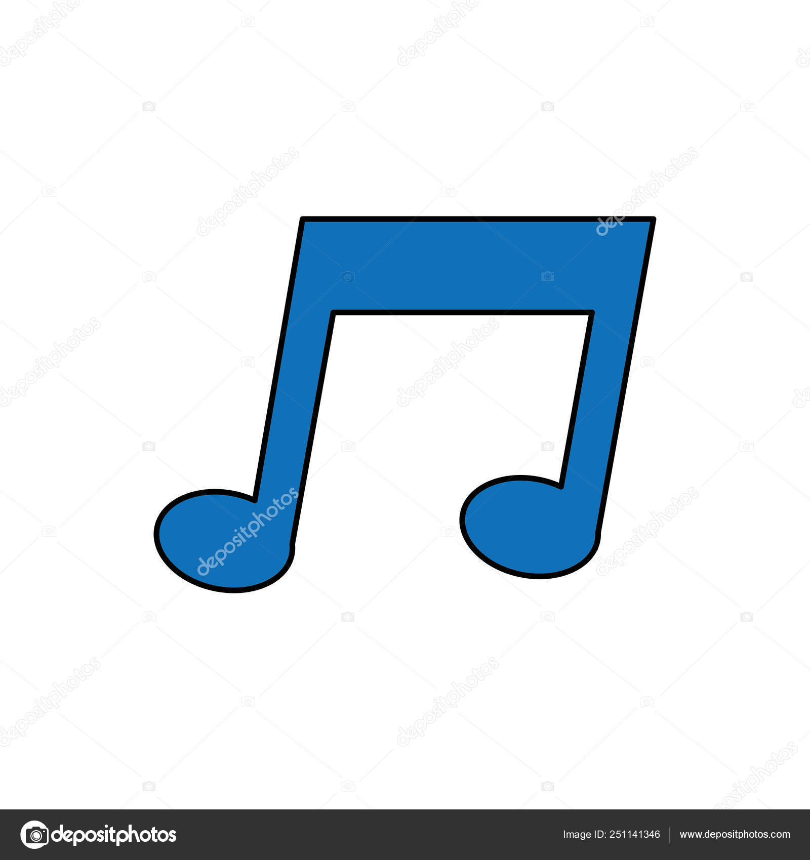 Music Note Sound Pentagram Musical Theme Isolated Design