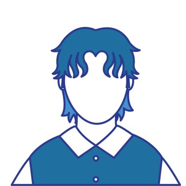 color avatar man with default face and shirt