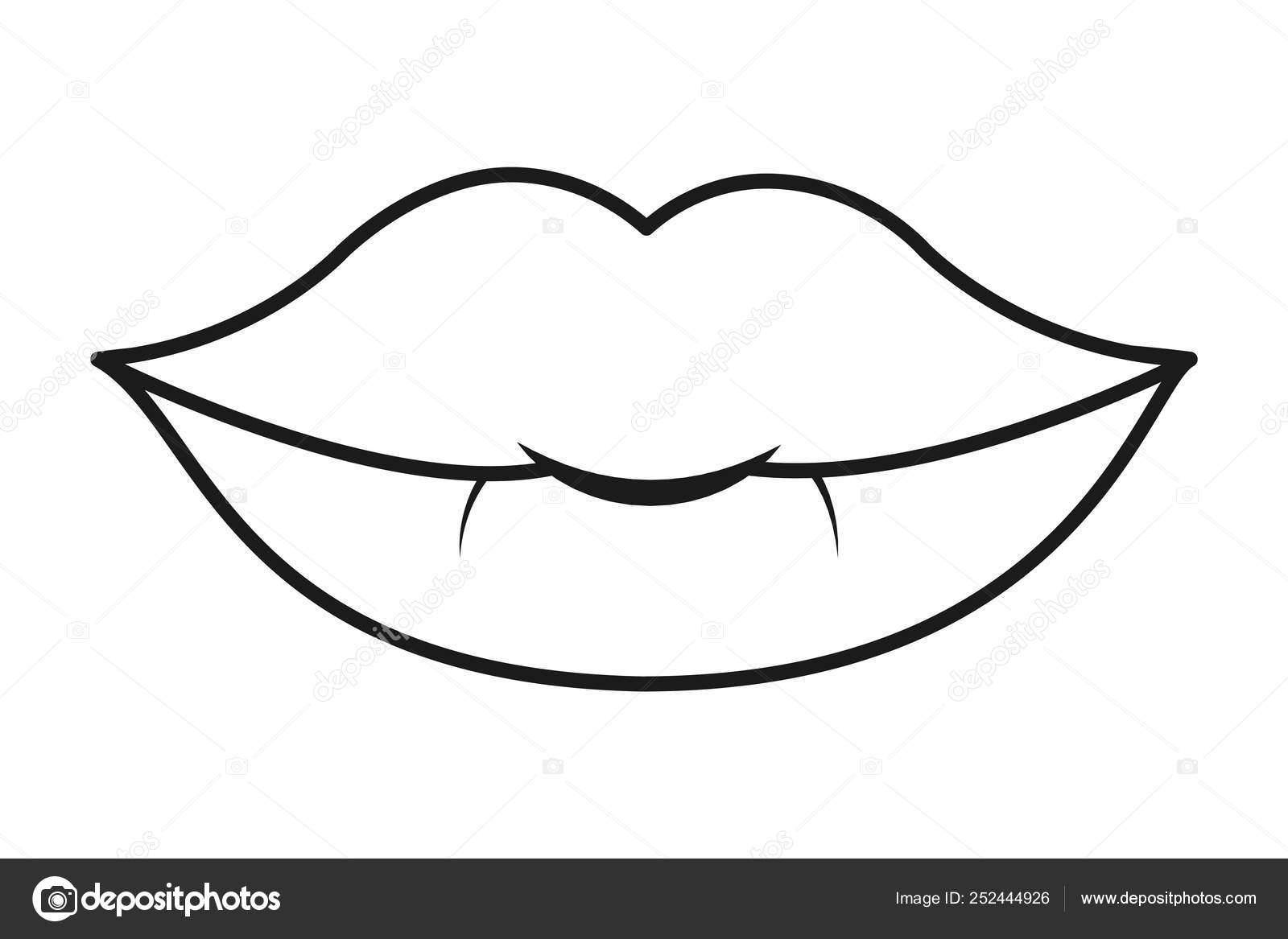 Retro Sexy Pop Art Lips Cartoon Vector Illustration Graphic Design Stock Vector C Stockgiu 252444926
