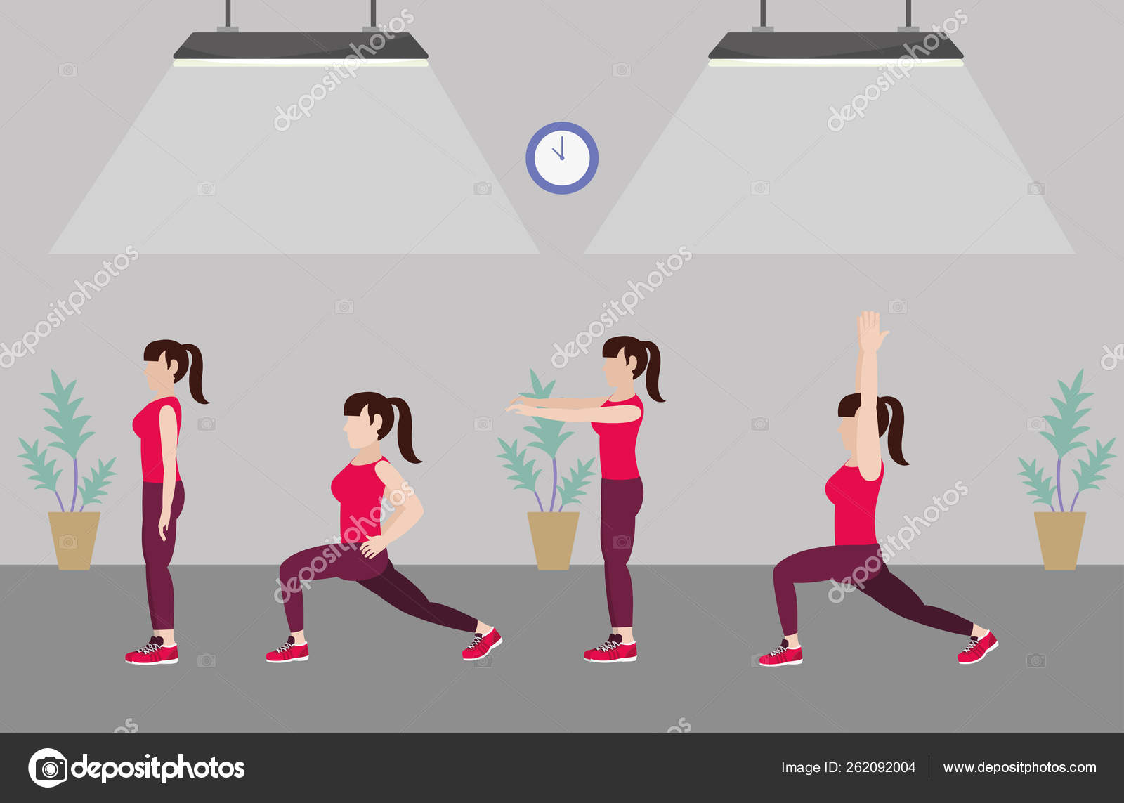 Fit Women Doing Exercise Stock Vector C Stockgiu 262092004 Fat cartoon people different stages vector illustration. https depositphotos com 262092004 stock illustration fit women doing exercise html