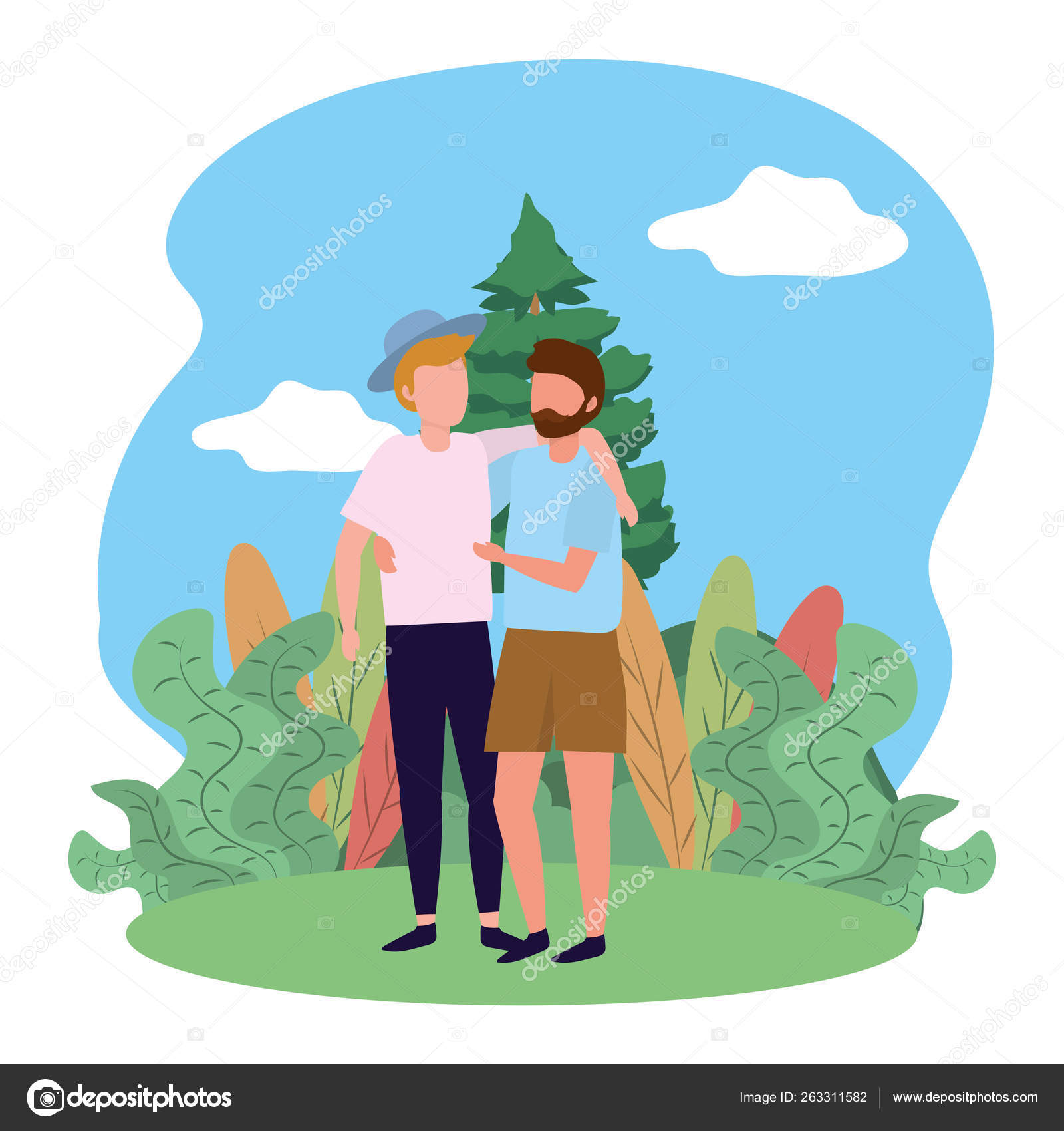 Mladý gay kreslený sex