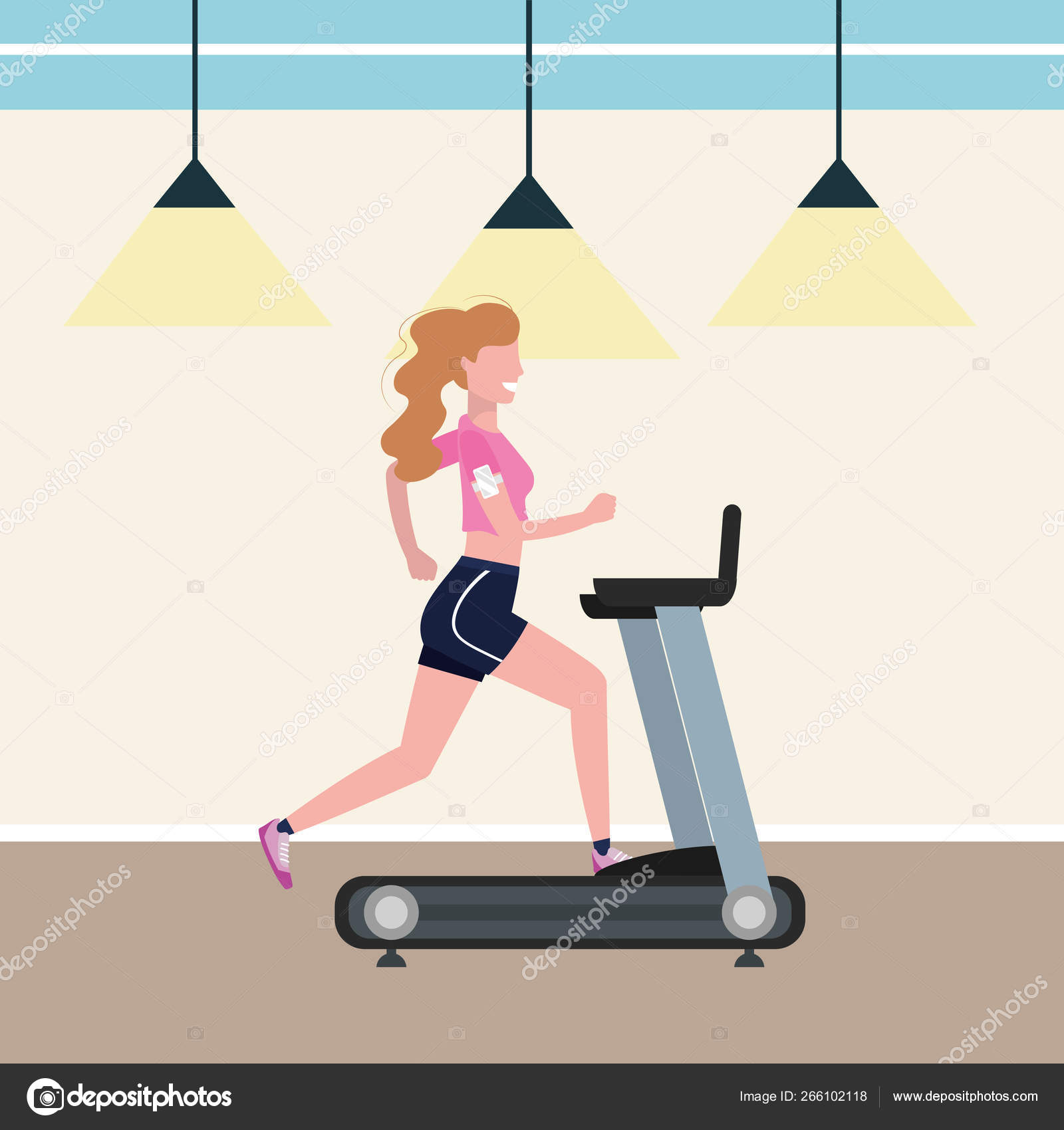 Fitness Exercise Cartoon Stock Vector C Stockgiu 266102118