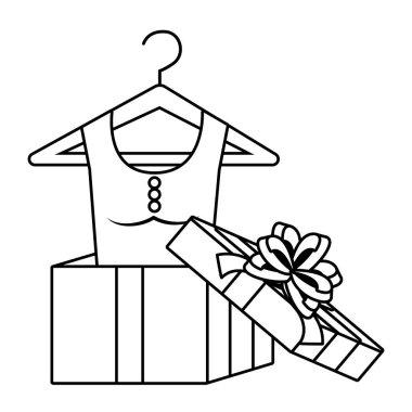 Dress inside gift  design vector illustration