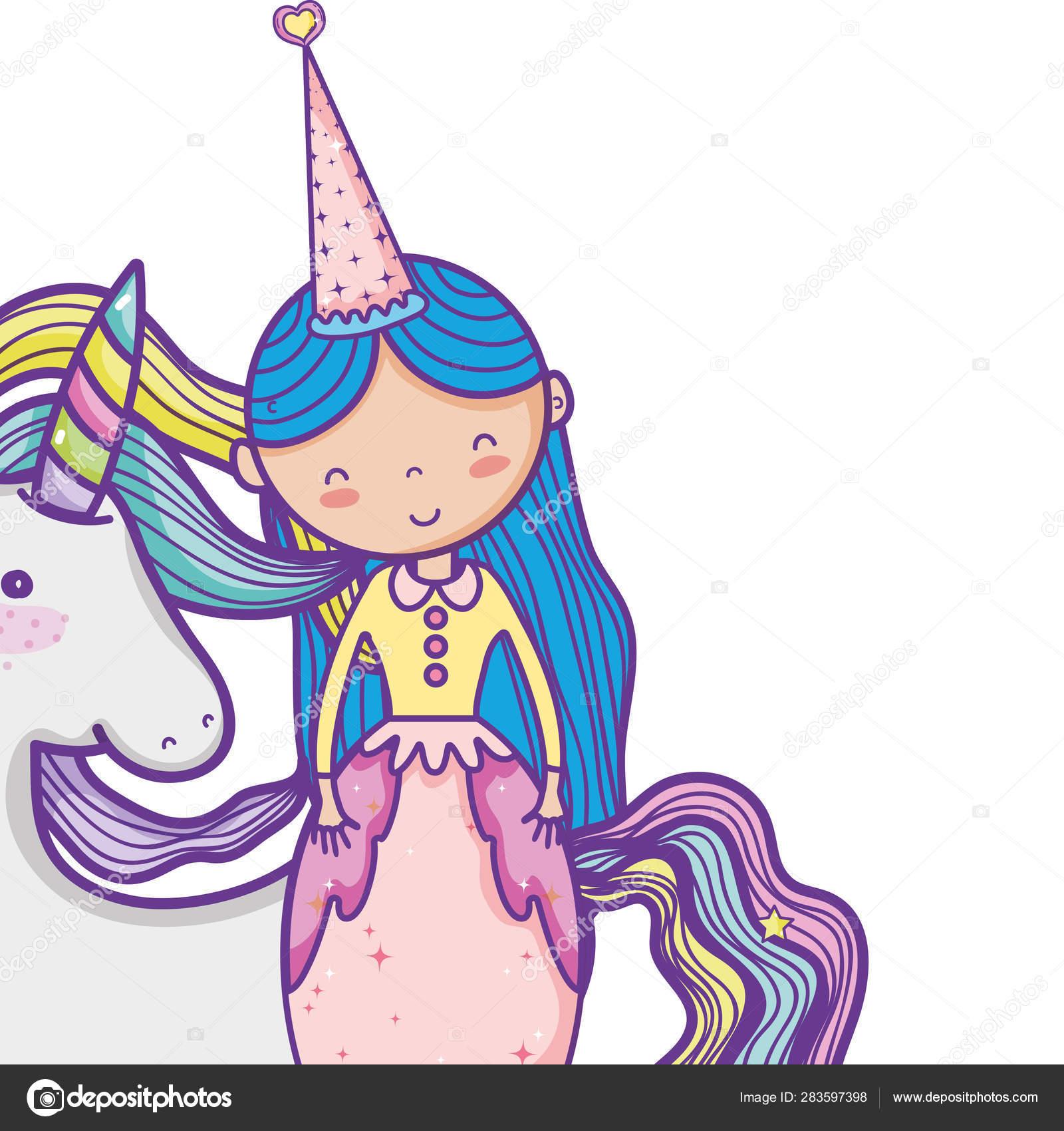 Bonito Dos Desenhos Animados Princesa Magico Vetores De Stock