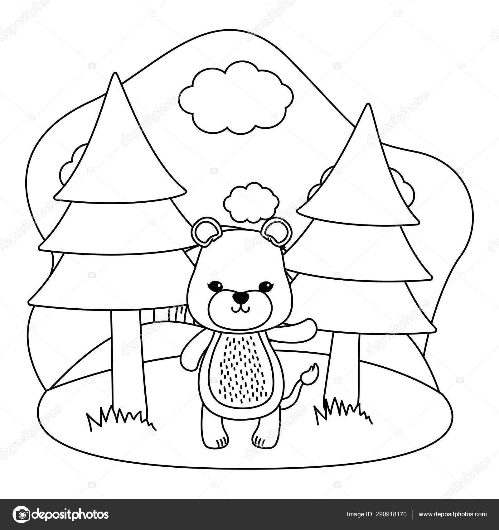 Ilustrador Do Vetor Do Projeto Dos Desenhos Animados Da Leoa