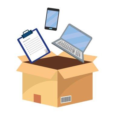 box with checklist vector illustration