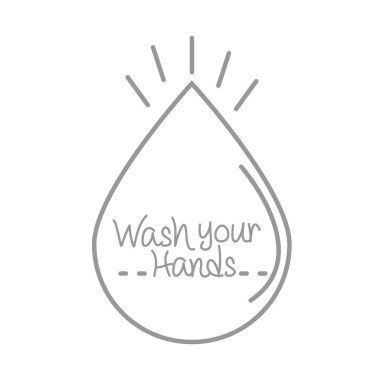 New normal, wash your hands protection, after coronavirus, hand made line style vector illustration icon