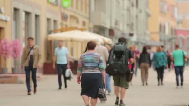 Moscow pedestrians on a Sunny summer timelapse