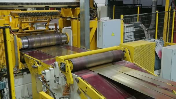 the line for machining of a roll of sheet ferrous metal