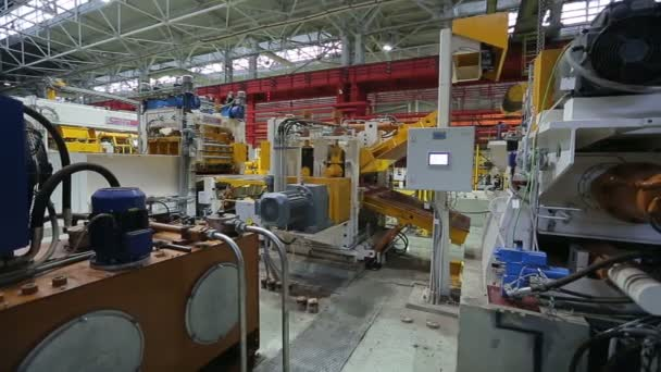 metal rolling processing line at the factory