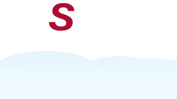Karácsonyi téli eladás animáció santa claus kalap