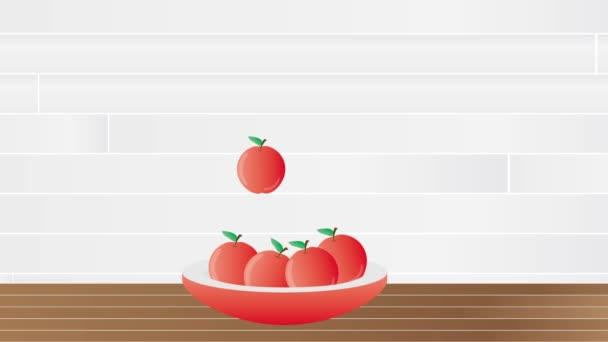 Jewish rosh hashanah table clipart animation apples honey wine jewish rosh hashanah table clipart animation apples honey and wine with hebrew greeting happy new year shana tova stock footage m4hsunfo