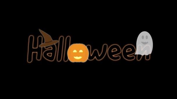 Halloween, animované logo a prvky