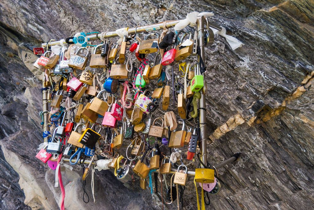 locks of love is a custom in some cultures that symbolize their love will be locked forever.