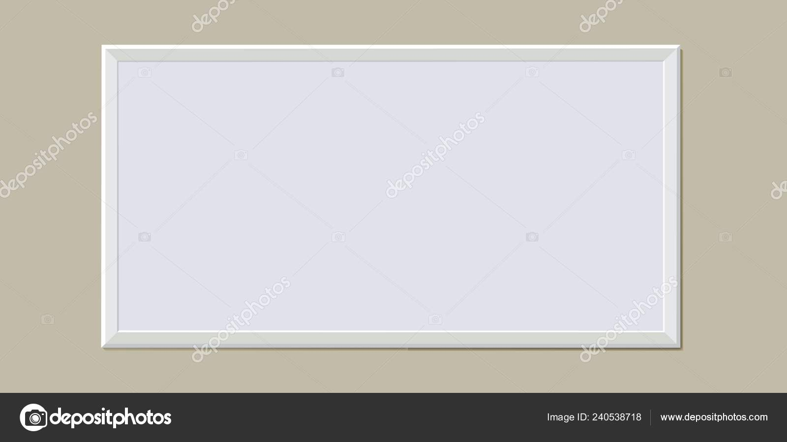 Baguette En Bois Decorative frame for the picture. wooden baguette. — stock vector