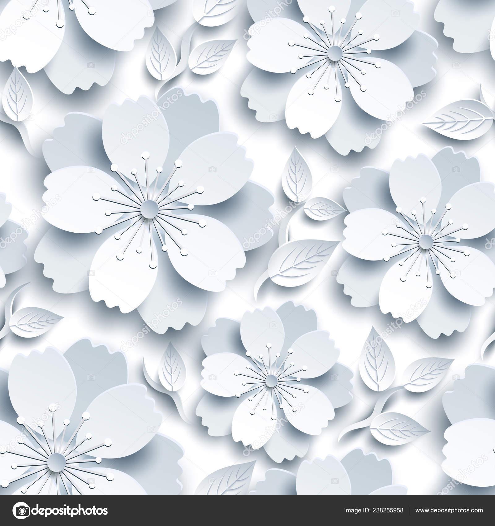 Beautiful Trendy White Grey Seamless Pattern Light Background