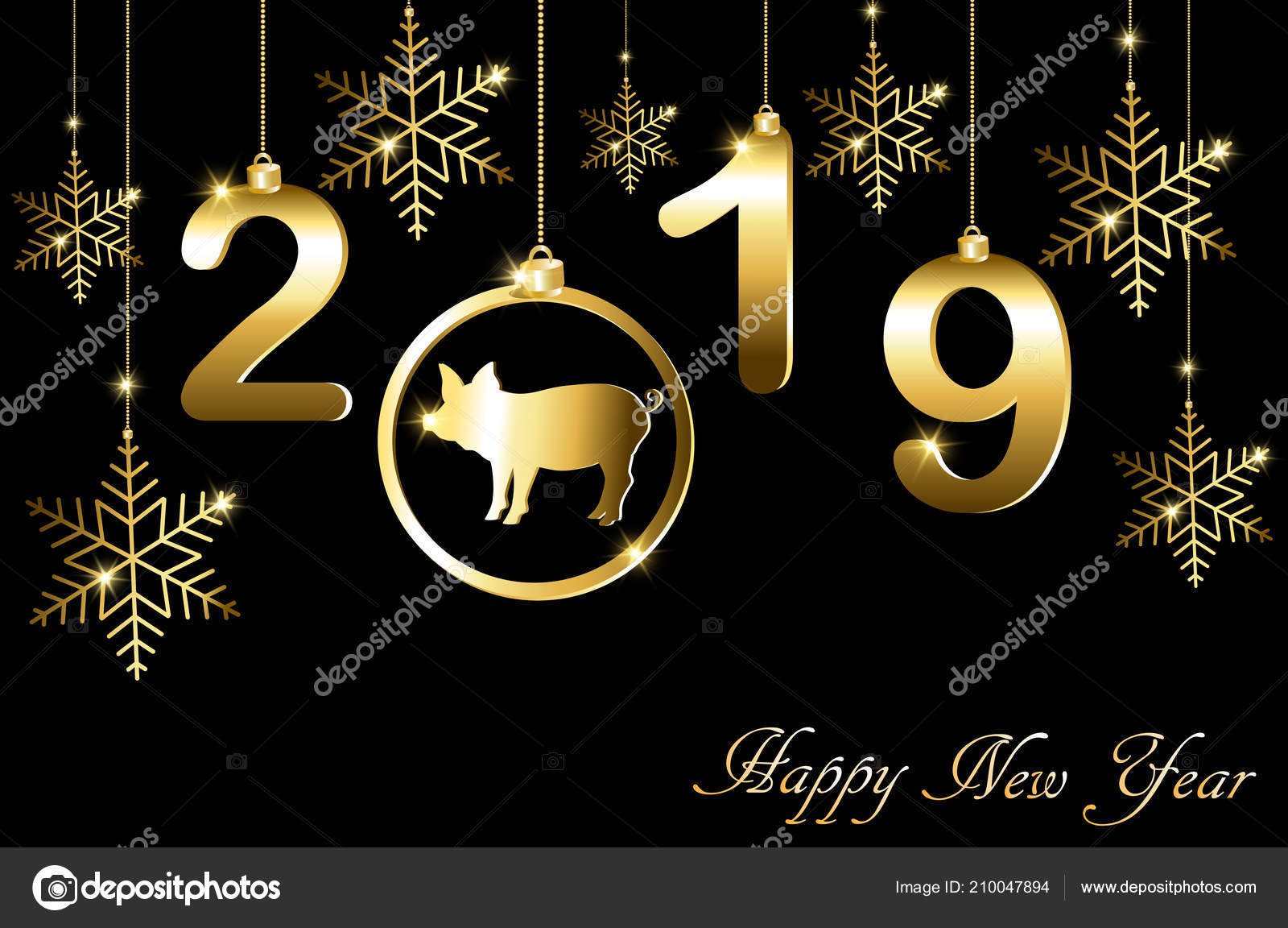 greeting cards christmas new year pig stock vector