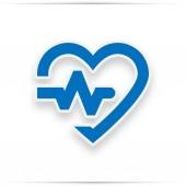 Kardiogram modré ikony srdce - srdce znamení