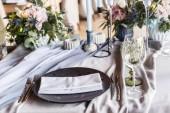 zona di arredamento, ristorante, cerimonia e foto bel matrimonio