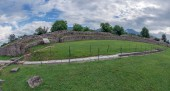 Fotografie Ruins of the the amphitheatre inside of the antique province Dacia Apulensis,Sarmizegetusa,Hateg Country, Romania.Place of struggles between gladiators.It was founded around the years 106 to 110 d.Hr.