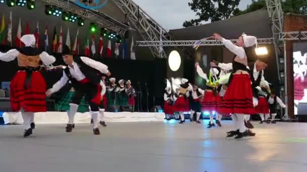 ROMANIA, TIMISOARA - JULY 7, 2018: Spanish dancers in traditional costume, perform folk dance during