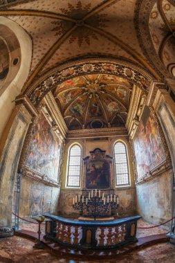 Interior of the church of Santa Maria delle Grazie, Milan, Italy