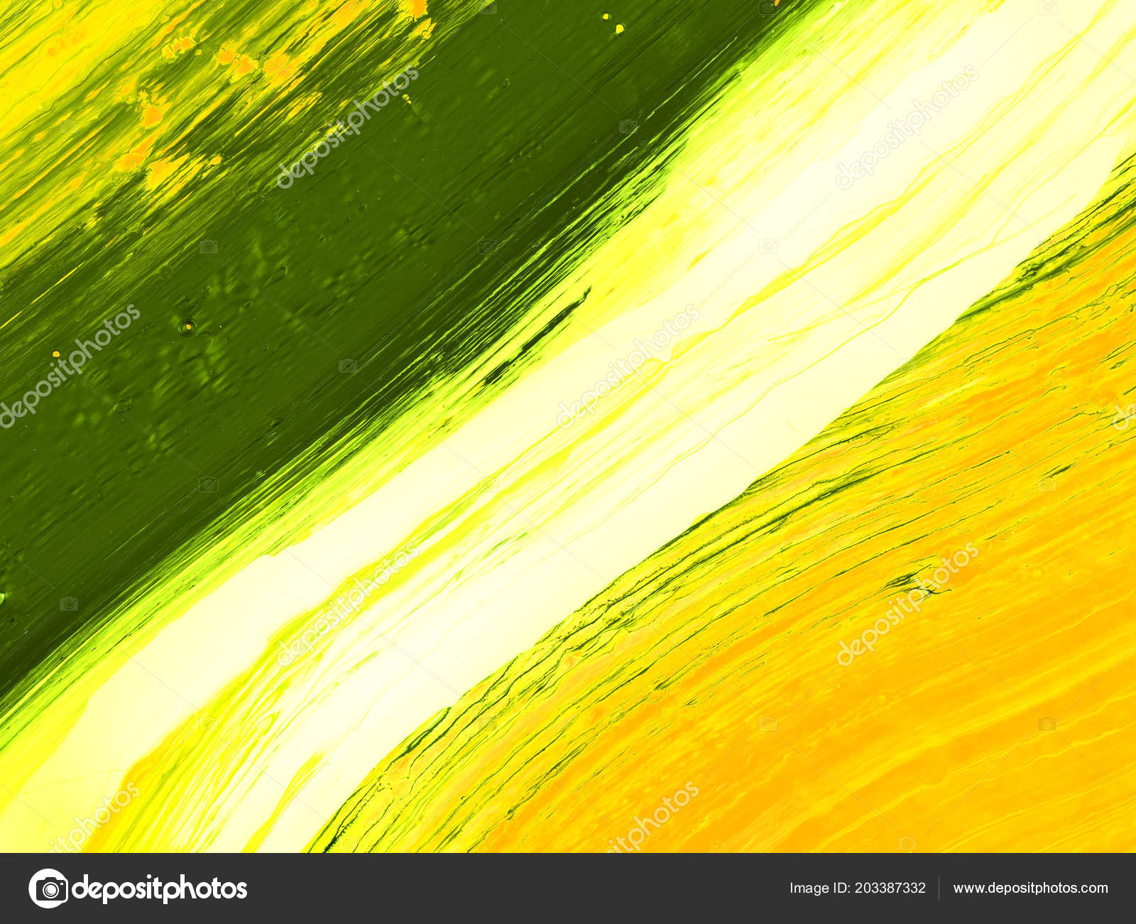 Creative Indian Flag Painting Green Creative Abstract Hand