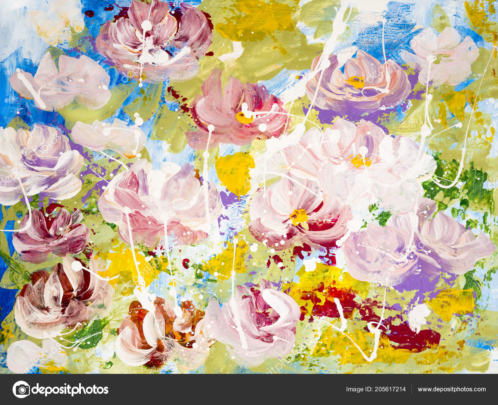 Pictures Paintings Flowers Acrylic Abstract Flowers