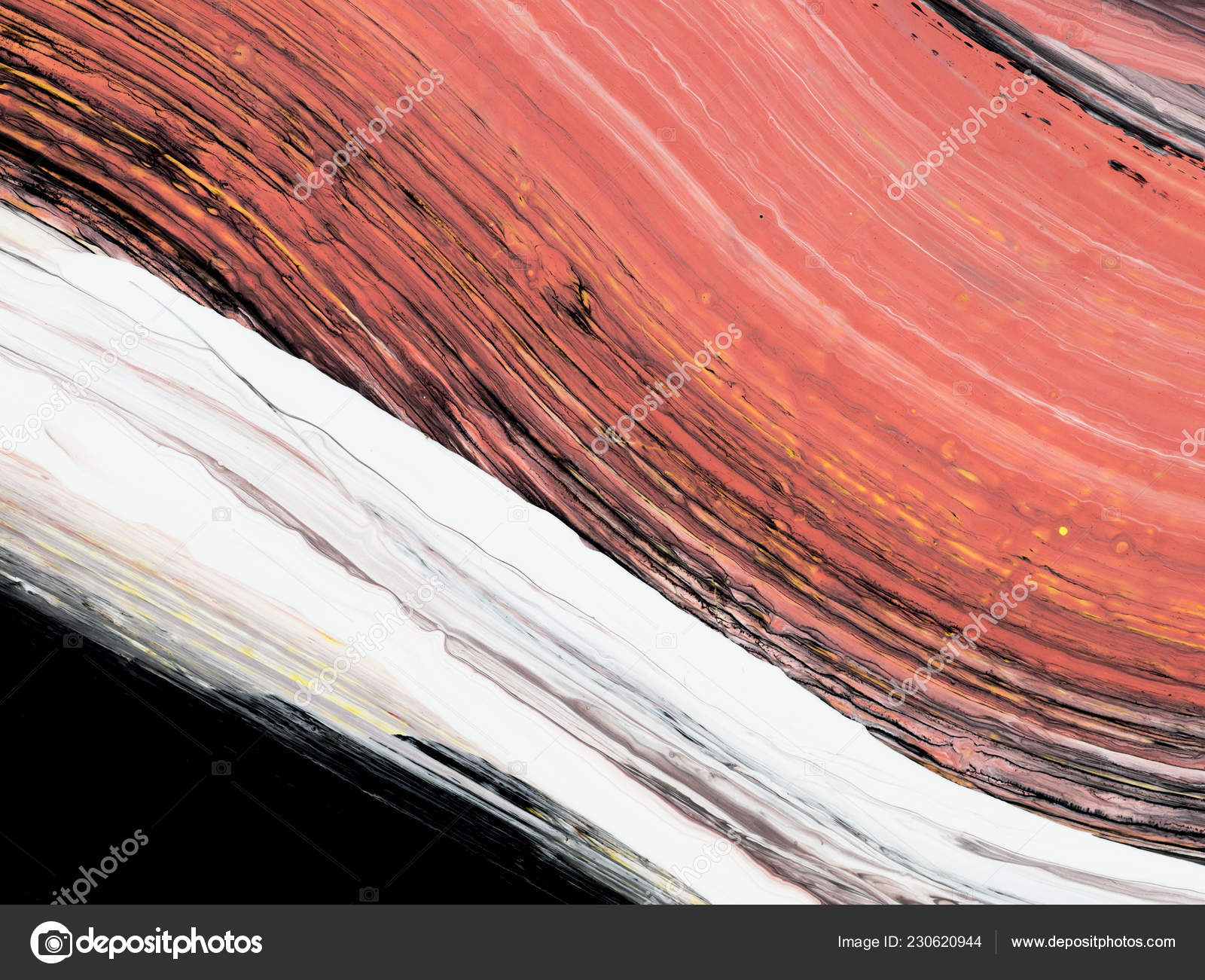 Creative Abstract Painting Trending Living Coral Color Main