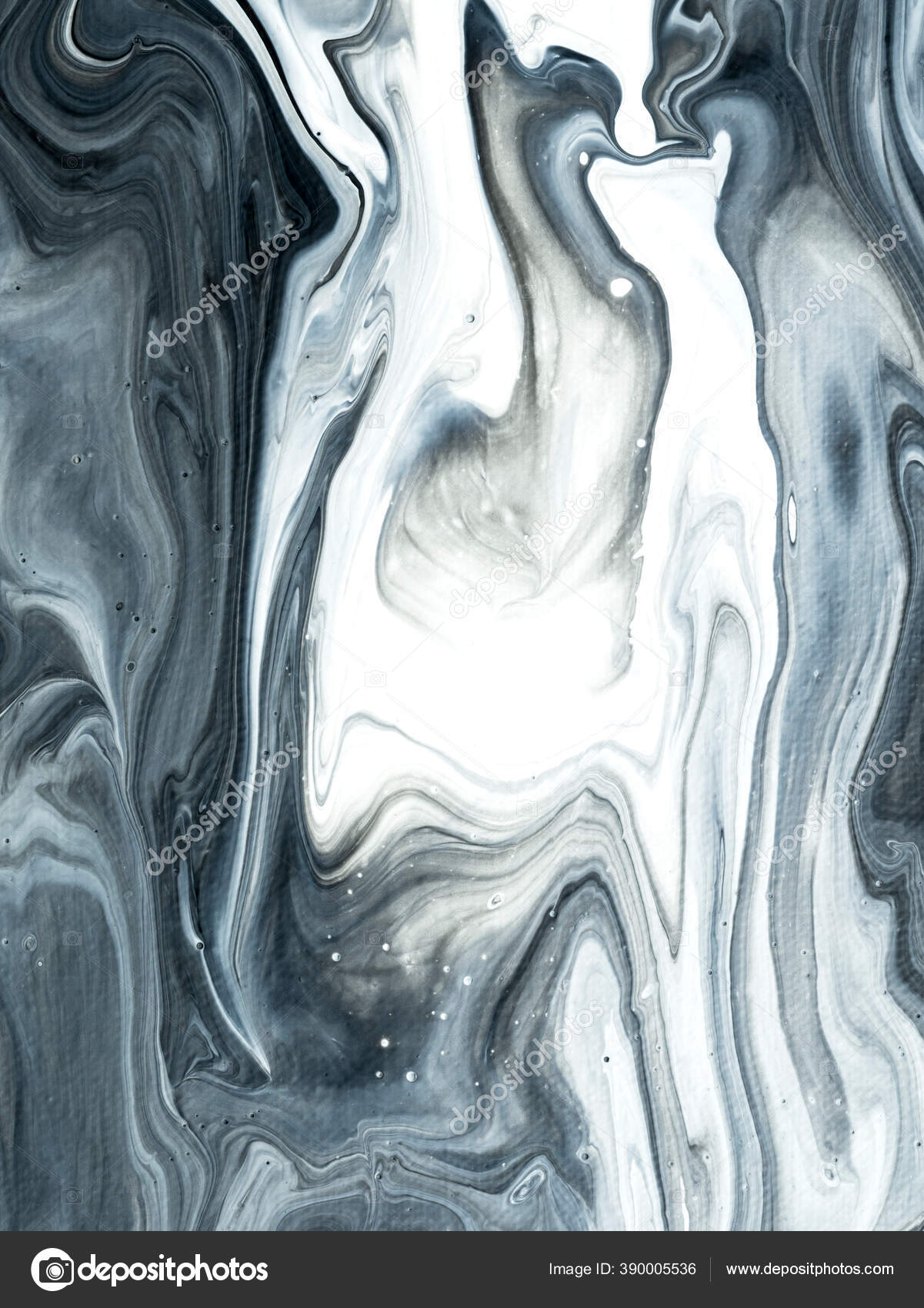 Black White Wave Creative Abstract Hand Painted Background Marble Texture Stock Photo C Artlu 390005536