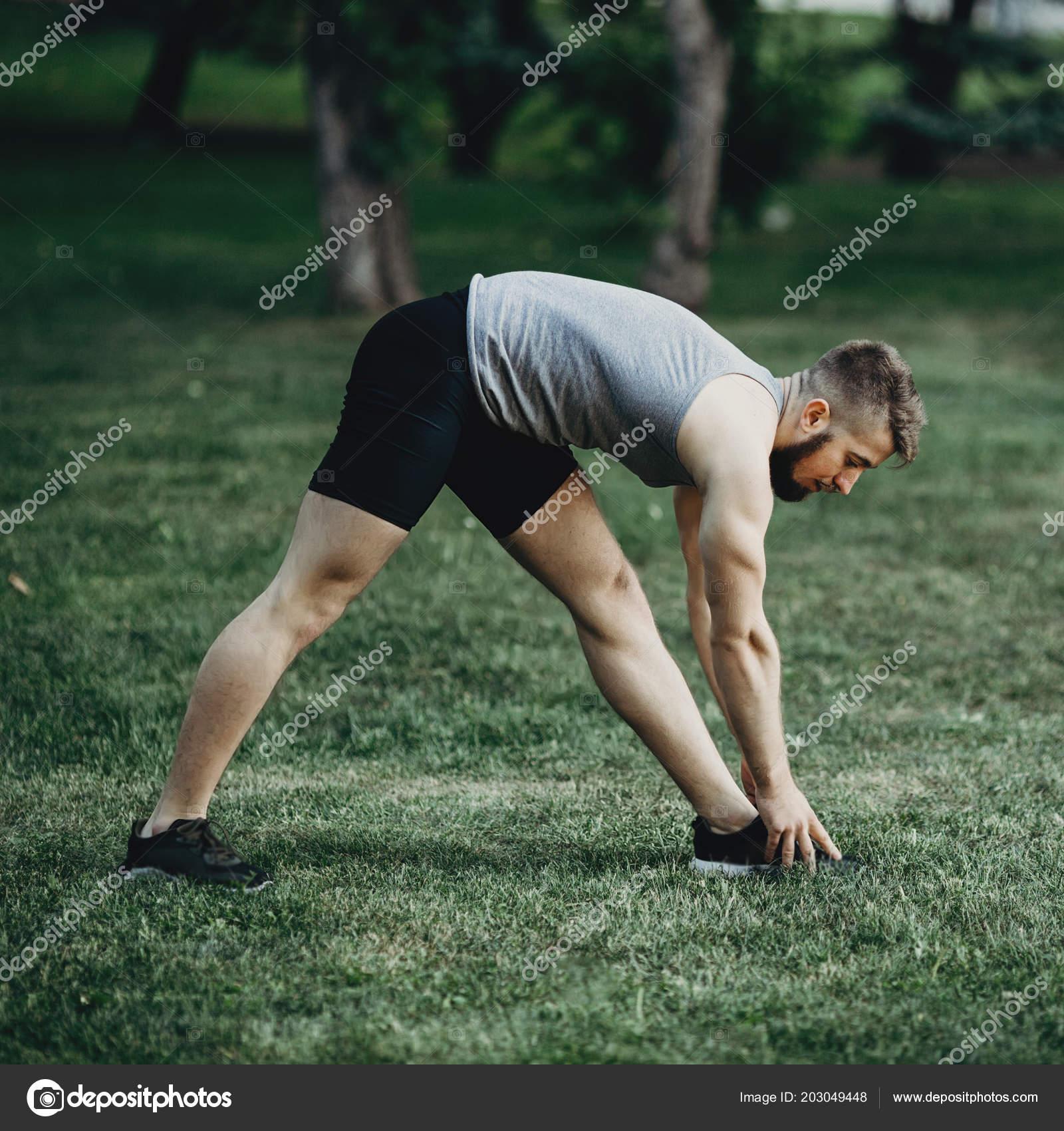 Calentamiento para hacer ejercicio hombres