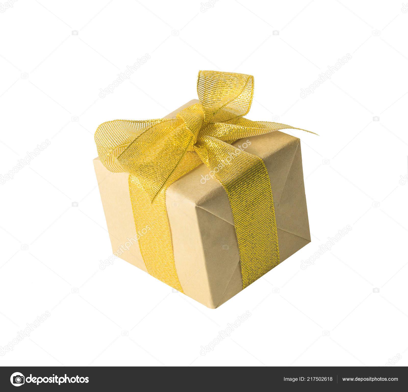 Geschenk oder Geschenk-Box in einem Handwerk Papier mit ...
