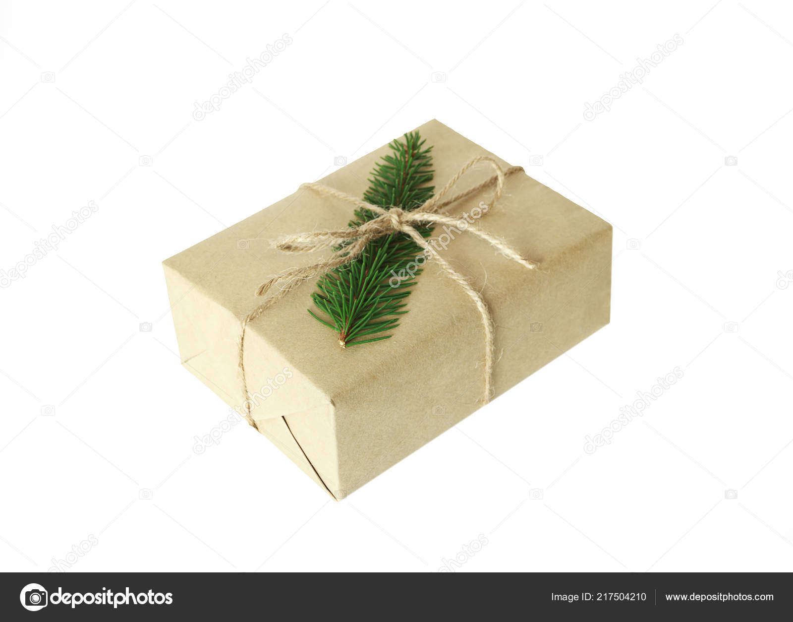 Christmas present or gift box isolated — Stock Photo © N ...