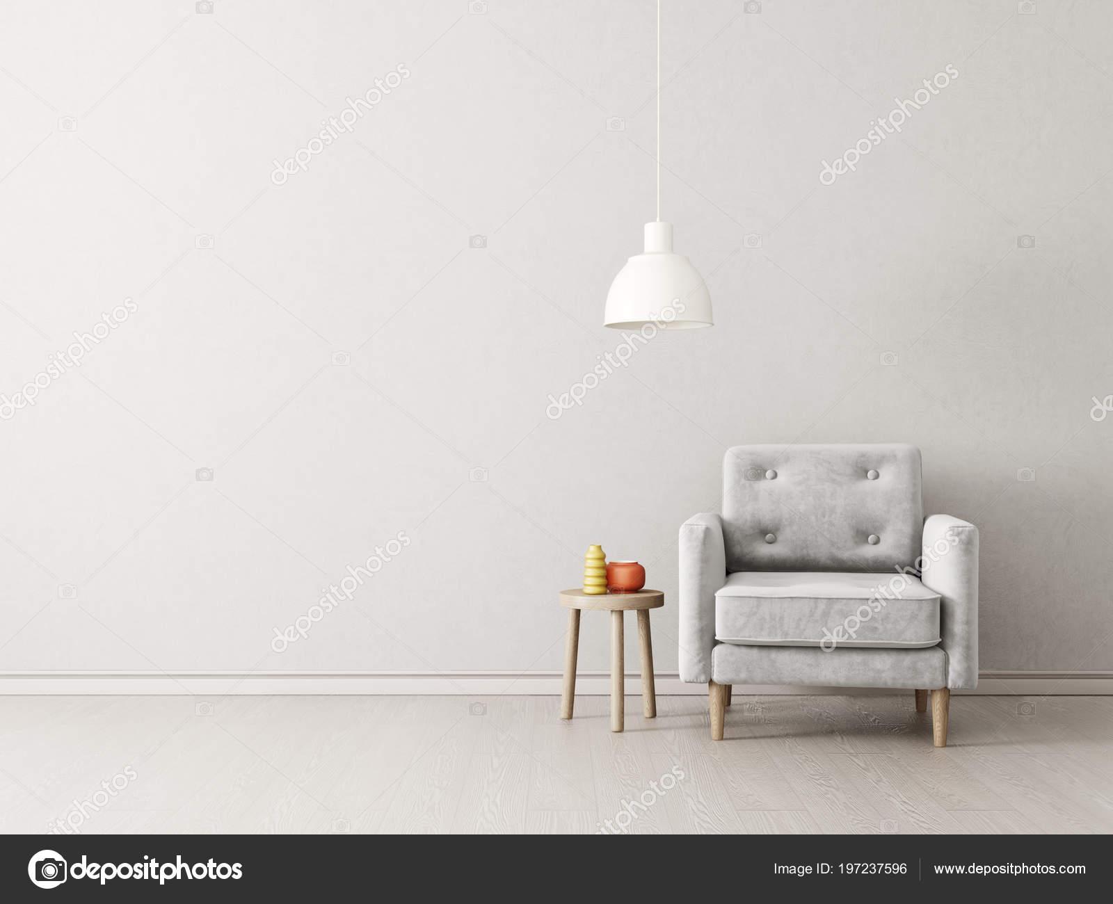 Lampen Scandinavisch Interieur : Moderne woonkamer met leunstoel lamp scandinavisch interieur