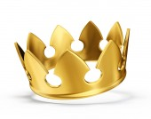 Fotografie golden crown isolated on white background
