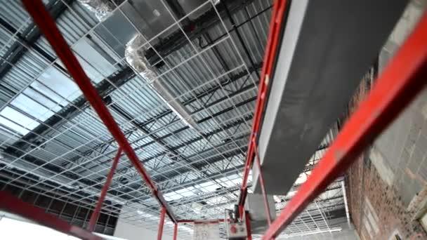 Commercial Building Construction Site Scaffolding Elements.