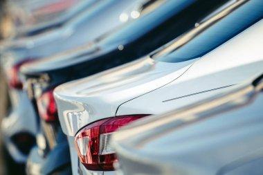 Vehicles Dealer Lot. Automotive Transportation Industry Concept.