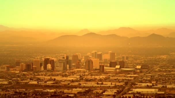TimeLapse a Phoenix, Arizona. Ködös nap a Phoenix. Amerikai Egyesült Államok. November 20, 2017