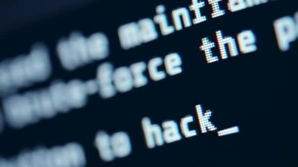 Maskování obrazovky hackerů. Pojetí jazyka pro hackování
