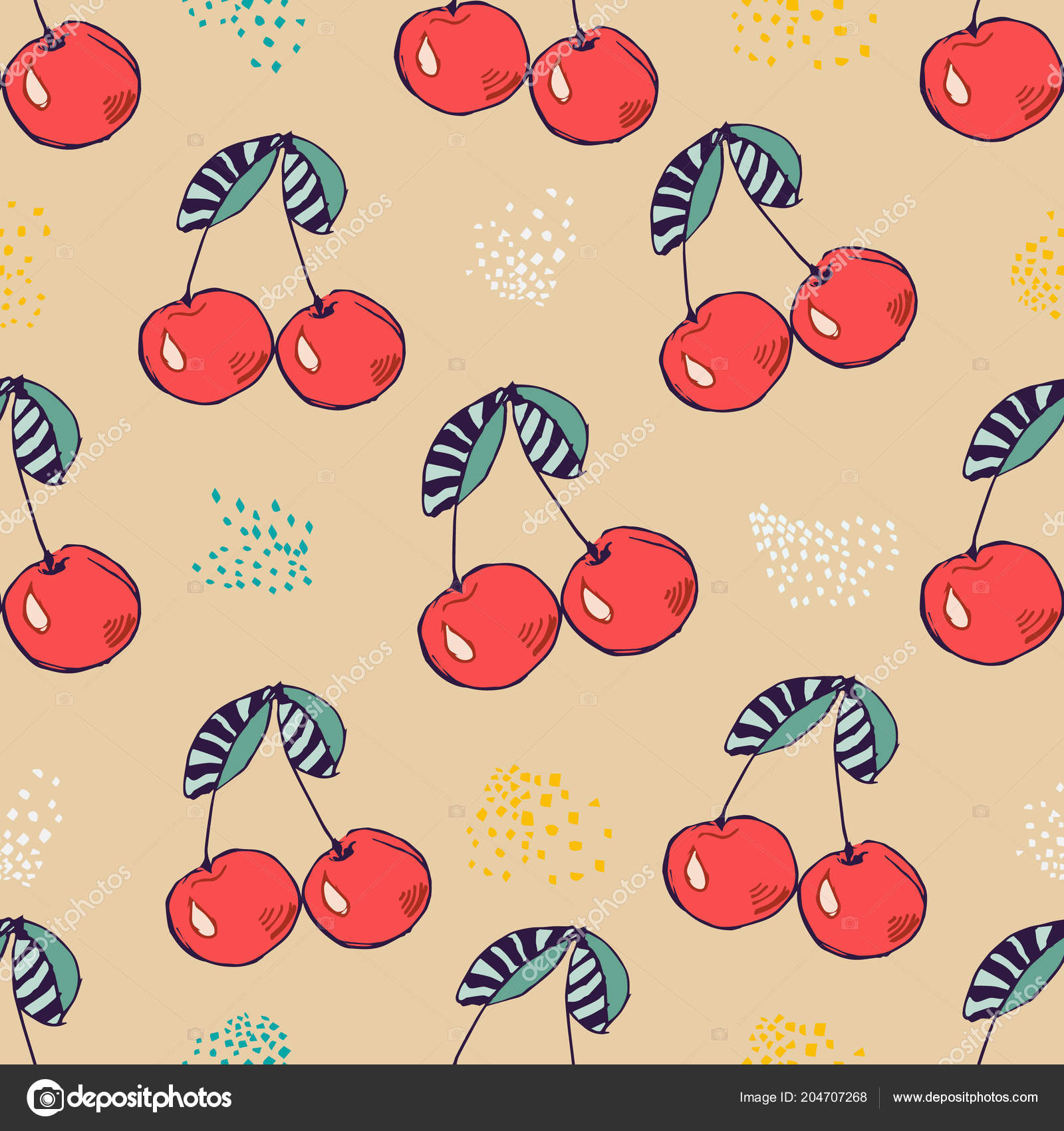 Seamless pattern of pink cherry vector illustration for design seamless pattern of pink cherry vector illustration for design birthday card party invitation stopboris Gallery