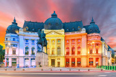 Photo The National Library at Calea Victoriei, Bucharest, Romania