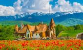 Clay Castle of the Valley of Fairies, Porumbacu falu, Sibiu (Nagyszeben), Románia