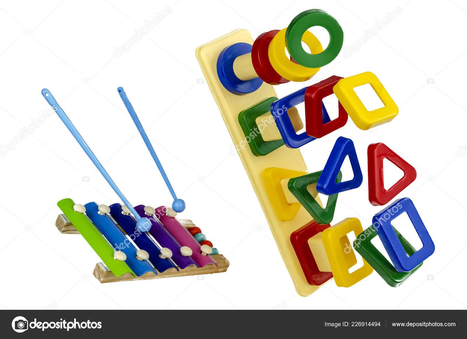 Geometric Shapes Made Plastic Puzzle Preschool Children